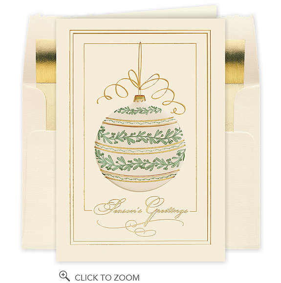 Season's Greetings Graceful Ornament Card