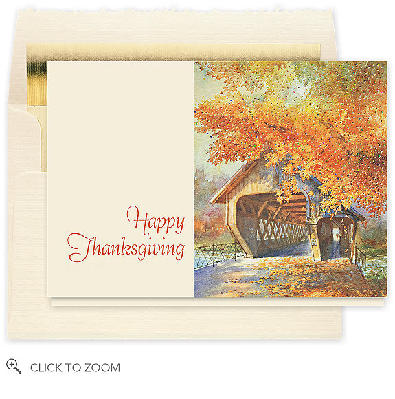 Bridge in Autumn Card
