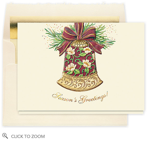 Glittering Holiday Bell Card