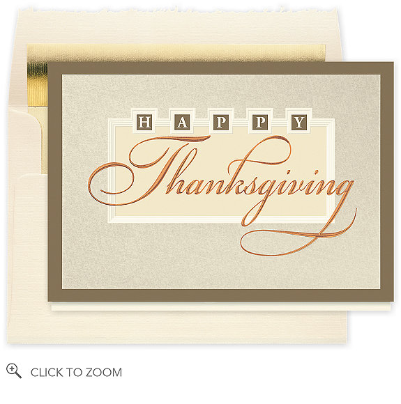 Elegant Thanksgiving Wishes Card - Thanksgiving Cards