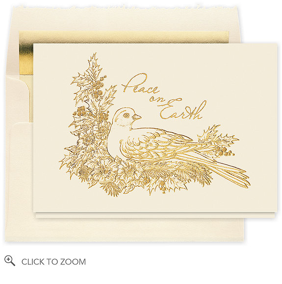 Peaceful Dove Holiday Greeting Card - Business Christmas Cards