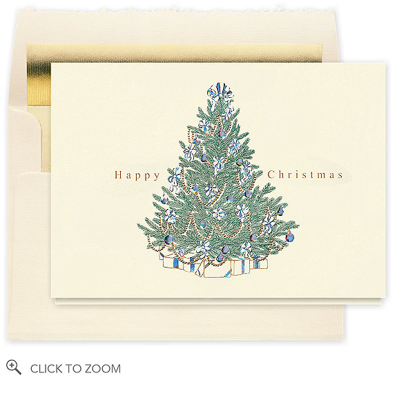 Happy Christmas Classic Tree - Business Christmas Cards