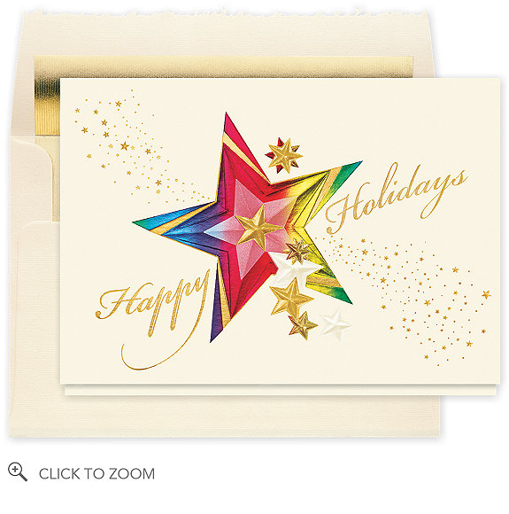 Kaleidoscope Holiday Star Christmas Card