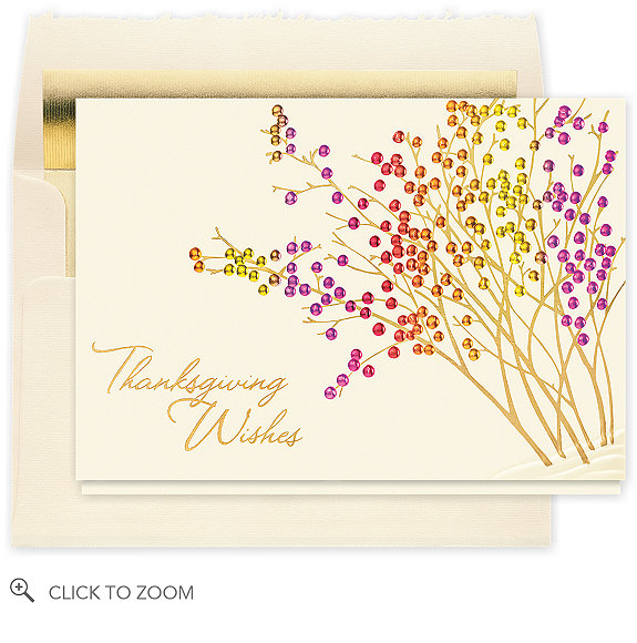 Thanksgiving Berry Garden Holiday Card