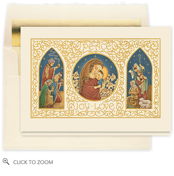 Peace Joy Love Christmas Card - Business Christmas Cards