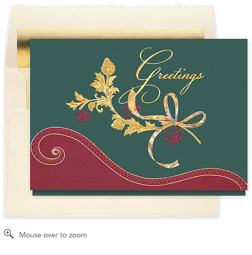 Elegant greetings holiday card 824cx business christmas for Elegant christmas card messages