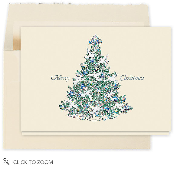 Peaceful Christmas Tree Card - Business Christmas Cards