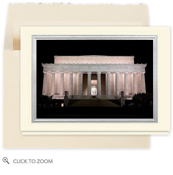 Washington D.C., the Lincoln Memorial Christmas Card