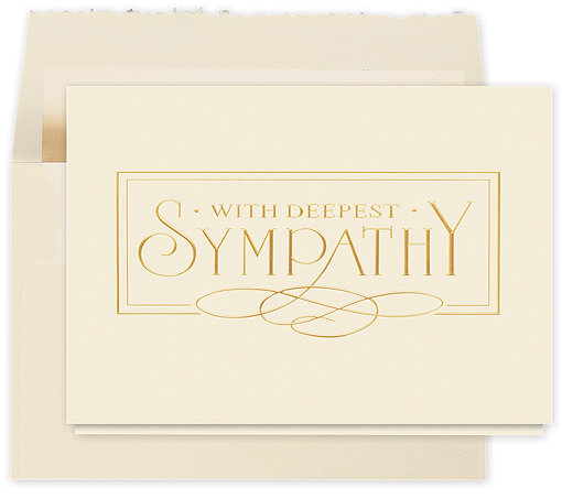 with deepest sympathy elegance card 75jay  business