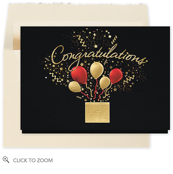 Bursting Congratulations Wishes Card - Congratulations Cards