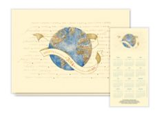 2014 Peaceful Year Calendar Card