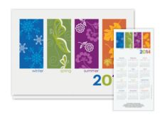 2014 Seasonal Panels Calendar Card