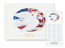 2014 Patriotic Dove Calendar Card