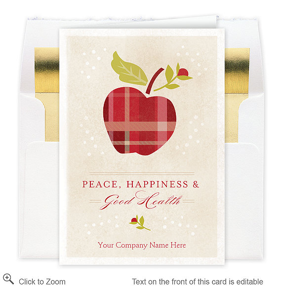 Health and Happiness Christmas Card - Business Christmas Cards