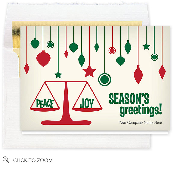 Retro Ornaments Holiday Card