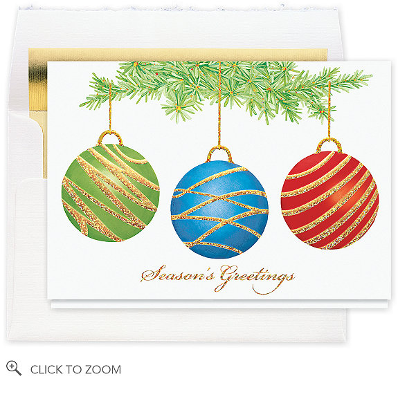 Ornamental Trio Christmas Card - Season's Greetings