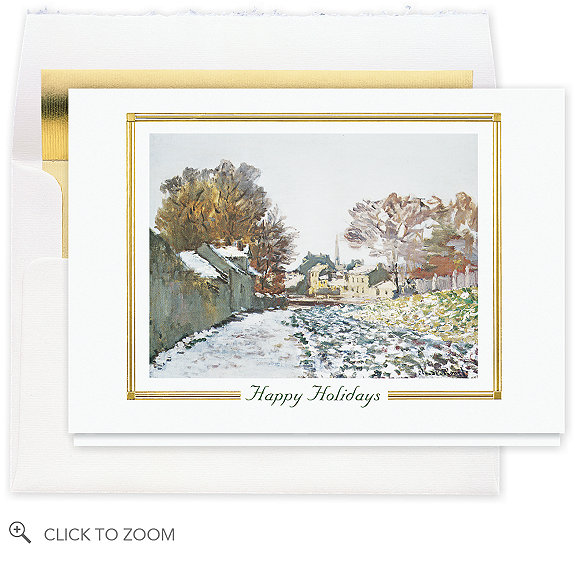 Snow At Argenteuil Holiday Card - Business Holiday Cards