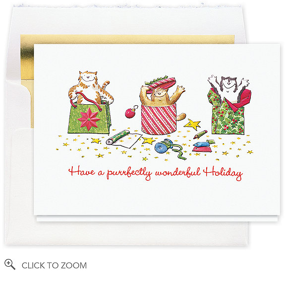 Purrfect Packages Christmas Card