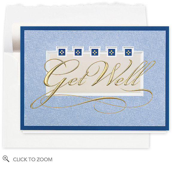 Wishing You Well Greeting Card - Business Get Well Cards Cards