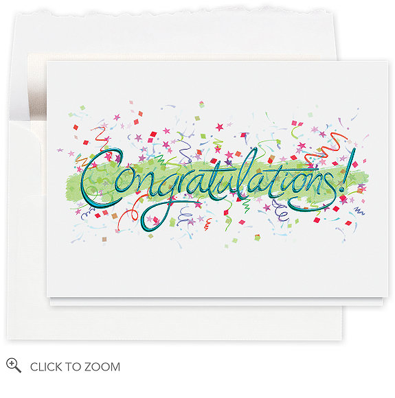Congratulations Celebration Card - Company Birthday Cards