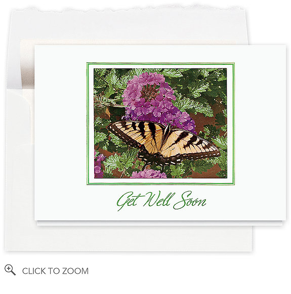 Butterfly Wishes Get Well Card - Business Get Well Cards Cards