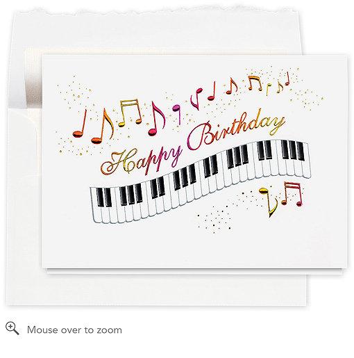 musical happy birthday card 573ar  business birthday cards