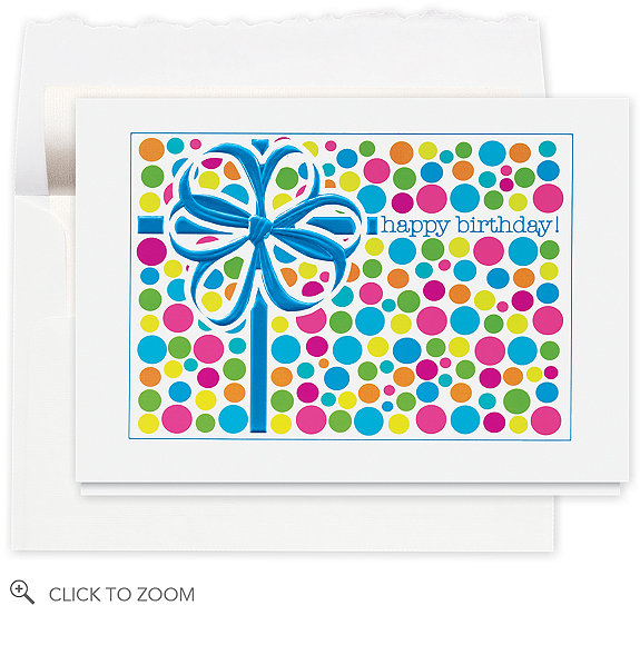 Birthday Gift Sensation Card - Business Birthday Cards