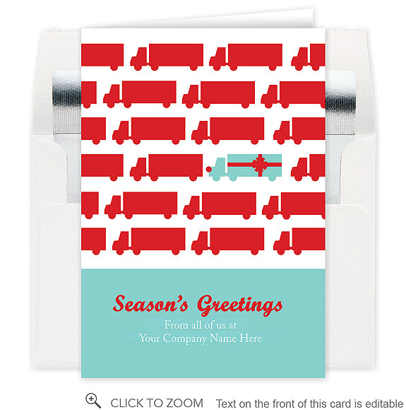 Gift Truck Holiday Card - Business Christmas Cards