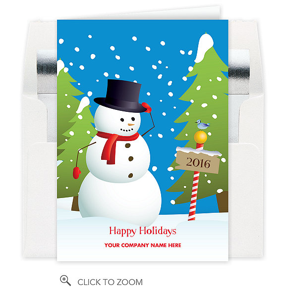 Jolly Snowman Holiday Card