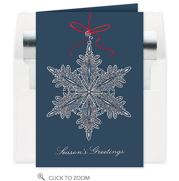 Filigree Snowflake Ornament Holiday Card
