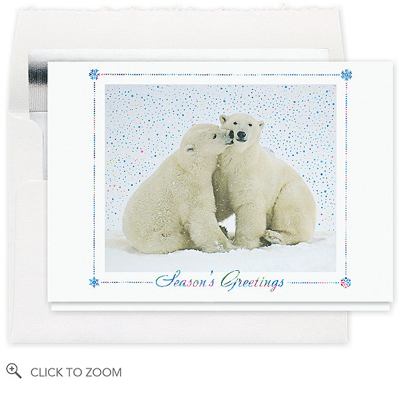 Polar Bear Greetings Christmas Card
