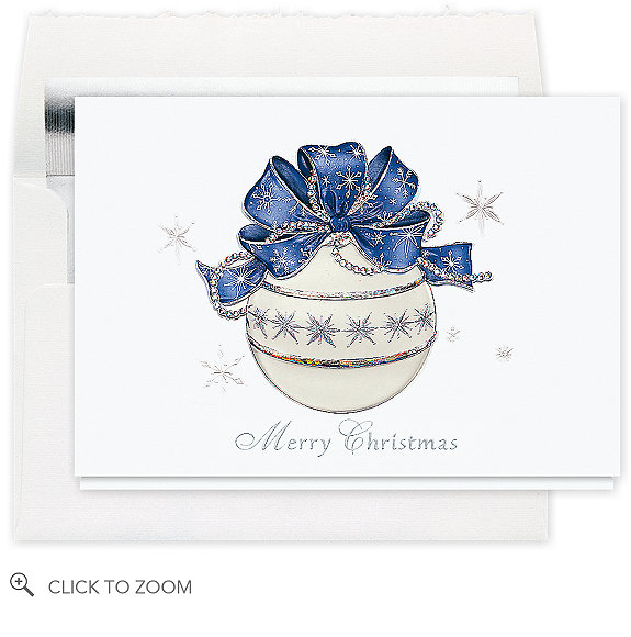 Snowfrost Ornament Merry Christmas Card - Business Christmas Cards
