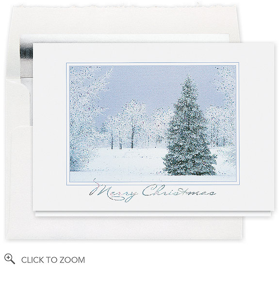 Peaceful Winter Merry Christmas Card - Business Christmas Cards
