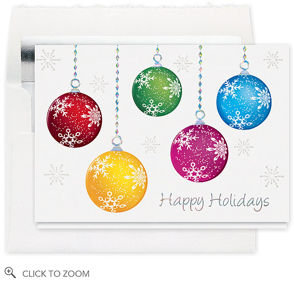 Happy Holiday Ornaments Christmas Card