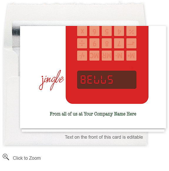 Jingle Bells Christmas Card - Business Christmas Cards
