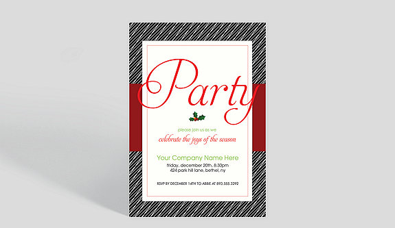 Plaid Invite Holiday Party Invitation