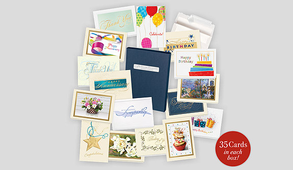 assorted boxed greeting cards, Greeting card