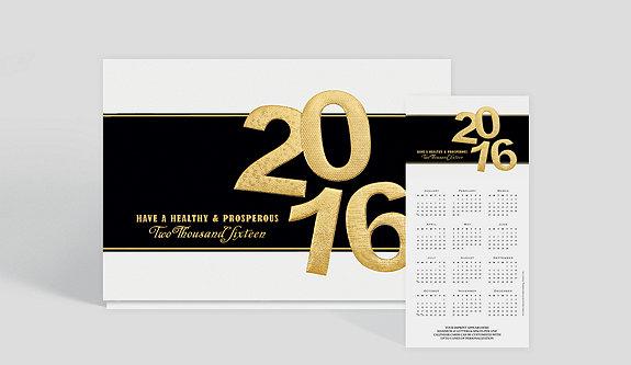 White Border Matte Photo Calendar Card