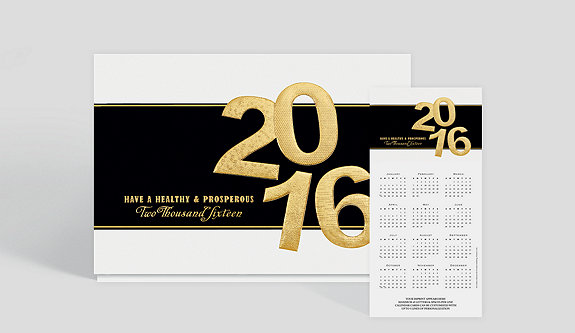 Image of 2017 Prosperous Year Calendar Card - Greeting Cards