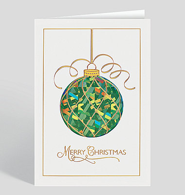 Golden Garland Holiday Tree Christmas Card