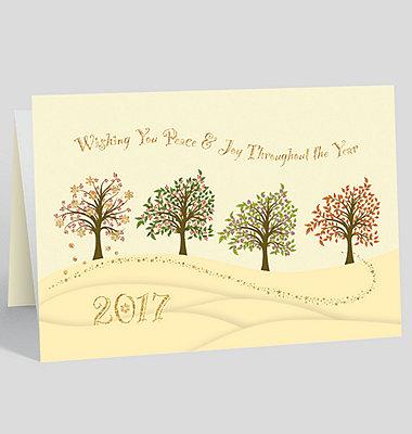 2017 Prosperous Year Calendar Card