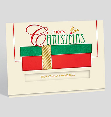 Glistening Snowflakes Christmas Card