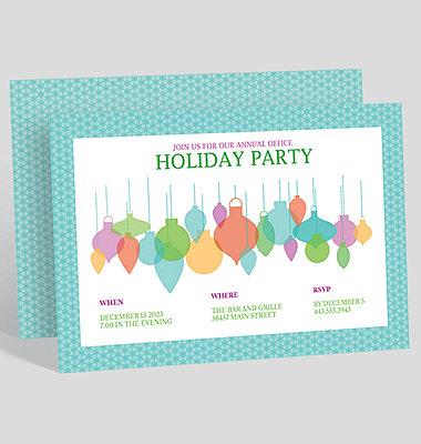Snowfall Celebration Corporate Party Invitation
