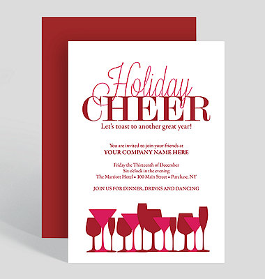 Eat, Drink and Be Merry Holiday Party Invitation