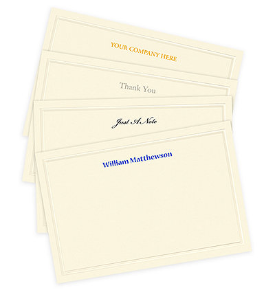 correspondence note cards - Personalized Embossed Note Cards