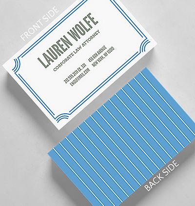 Slim stripes business card standard size 1027494 business slim stripes business card credit card size colourmoves