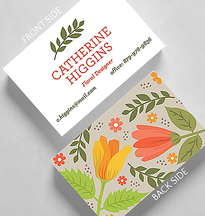 Angles business card standard size 1027509 business christmas cards floral art business card credit card size colourmoves
