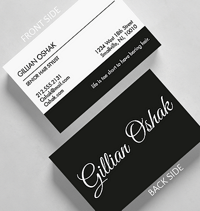 Stark script business card standard size 1027500 business stark script business card credit card size reheart Image collections