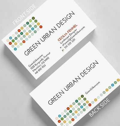 Circle dot business card standard size 1027597 business christmas circle dot business card credit card size colourmoves