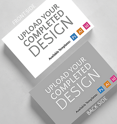 Upload your completed design horizontal business card standard upload your completed design horizontal business card credit card size reheart Images